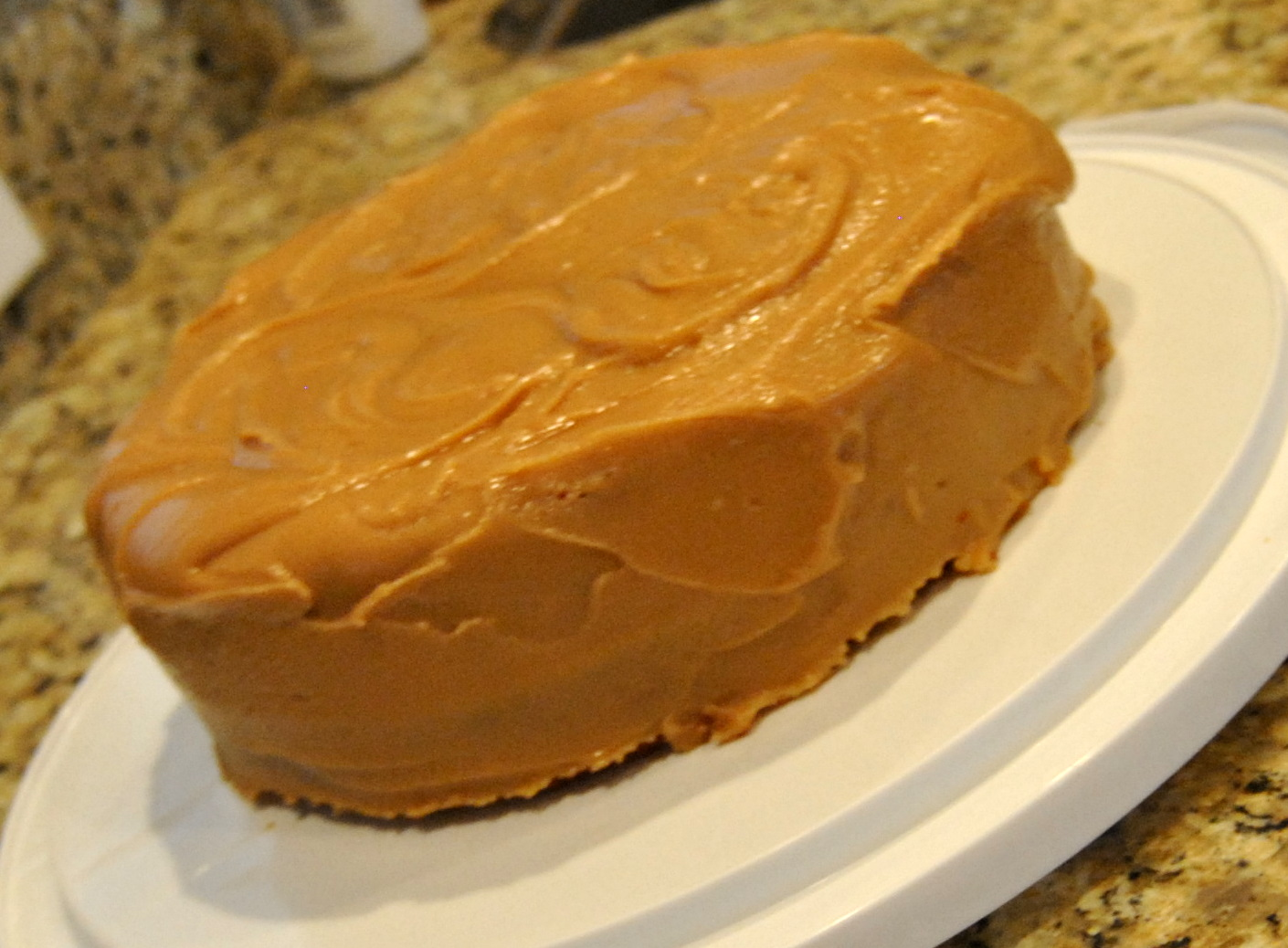 Bottom line is, it's a basic, yellow cake with peanut butter fudge ...