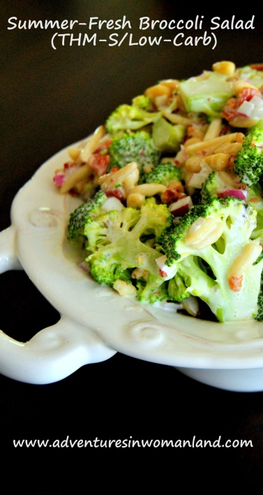 Summer-Fresh Broccoli Salad (THM-S/Low-Carb)
